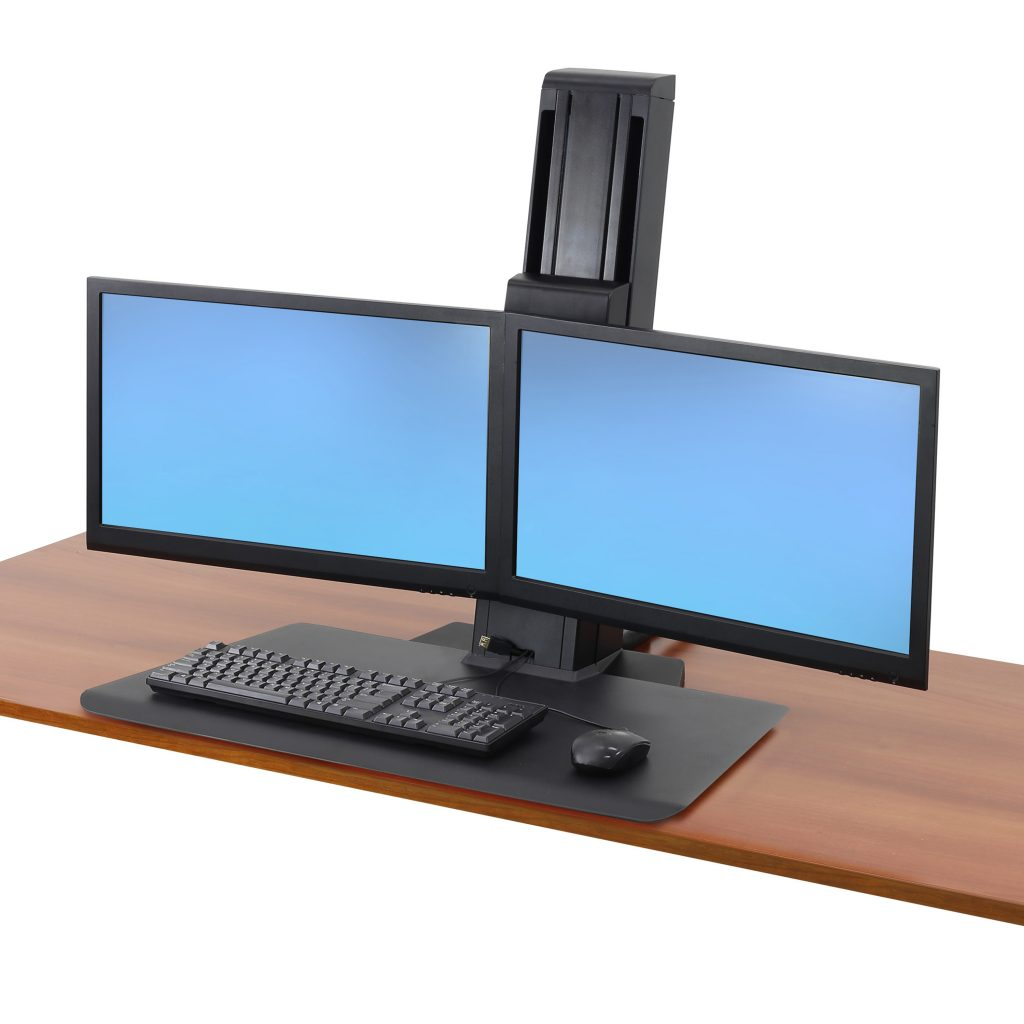 Workfit Sr Dual Monitor Short Surface Black Dcp Solutions